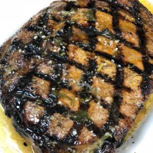 18 oz hand-cut USDA Choice Ribeye steak, with marsala wine sauce